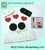 black  adhesive velcro dots or love-style