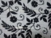 black and white flocked fabric