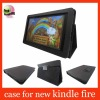 black leather case for new kindle fire,for kindle fire stand case
