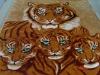 blanket in tiger design