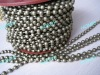 bronze color metal hollow bead chain for curtain