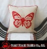 butterfly applique cushion cover