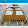 button lace orange pure cotton canvas dining table cloth