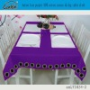 button lace purple 100% cotton canvas dining table cloth