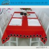 button lace red 100% pure cotton canvas restaurant table cloth