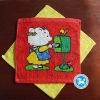 cartoon pattern printting square towel with beautiful colors