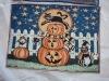 cat pumpkin designer table mat  coast hometextile