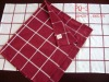 check patter woven yarn dyed cotton kitchen towel