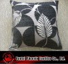 chenille leaf jacquard cushion cover