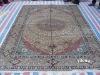 chinese qum silk rugs