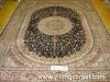 chinese round silk rugs