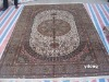 chinese tabriz hand knotted 400 line silk carpet