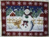 christmas jacquard place mat, placemat, table ware