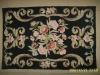 classical hand hooked rug