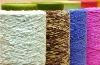 colored spun chenille acrylic yarn