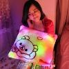 colorful square shape led light pillow