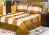 colourful and many patterns faux silk 3 pcs comforter set