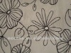 cotton embroidered curtain fabric