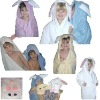cotton hooded towel velour reactive printed