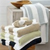 cotton plain strip bath towel