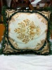 cotton/ polyester fabric jacquard flower designer sofa cushion cover/ pillowcover