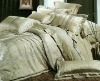 cotton polyester jacquard dyed bedding set / fabric
