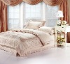 cotton polyester  jacquard dyed duvet cover for home / hotel