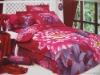 cotton reactive printed bedding set