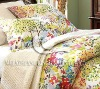 cotton satin printed bedding duvet set