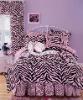 cotton satin printed bedding set