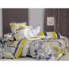 cotton satin printed bedding sheet for hotel