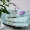 cotton solide embroidery bath towel