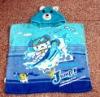 cotton terry reactive printed beach towel poncho