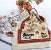 cotton terry/velvet kitchen towel with embroidery/boder/printing/waffle