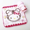 cotton velour printed square towel