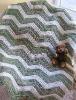 crochet cotton kid's quilt blanket