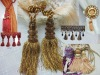 curtain accessories New design curtain tassel fringe(lace) with bead tassel cord Lechy brand