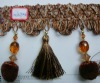 curtain fringe for decorative with beads and balls
