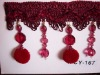 curtain  tassel  fringe with beads