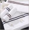 decorative white towel set