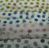 dots printed on knitted fabric