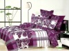 elegant design beautiful flowers printed 4 pcs bed sheets bedding set