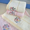 embroidered 100% cotton face towel