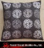 embroidered faux suede cushion cover