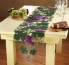 embroidered grape  table runner