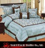embroidered taffeta quilt set