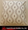 embroidered wave polysilk cushion
