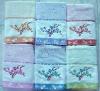 embroiderey jacquard cotton bath towel with border