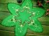 embroidery Christmas star tablecloth