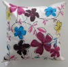 embroidery and patchwork cushion